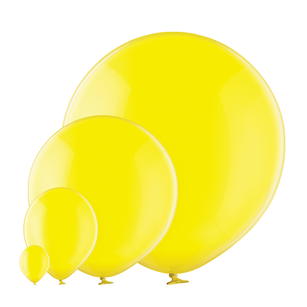 Transparent 036 Yellow Balloons