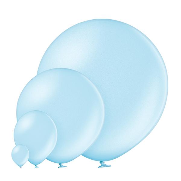 Metallic 073 Light Blue Balloons