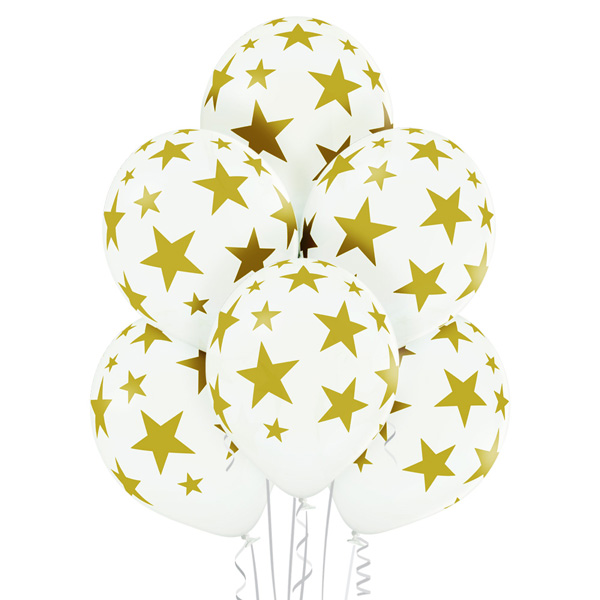 Stars Gold and White