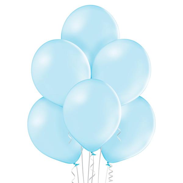Pastel 003 Sky Blue Balloons 8ct