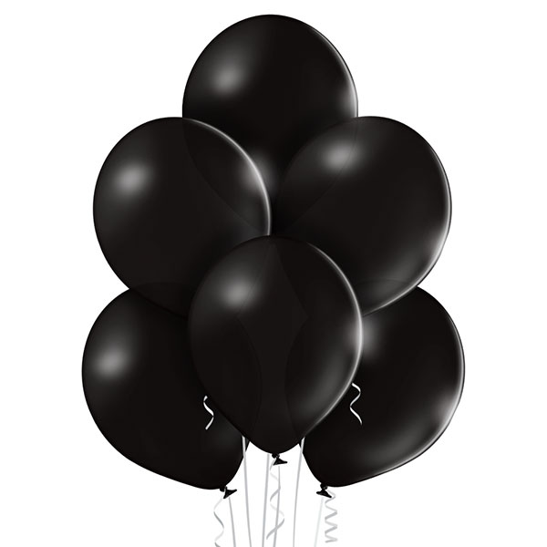 Pastel 025 Black Balloons 8ct