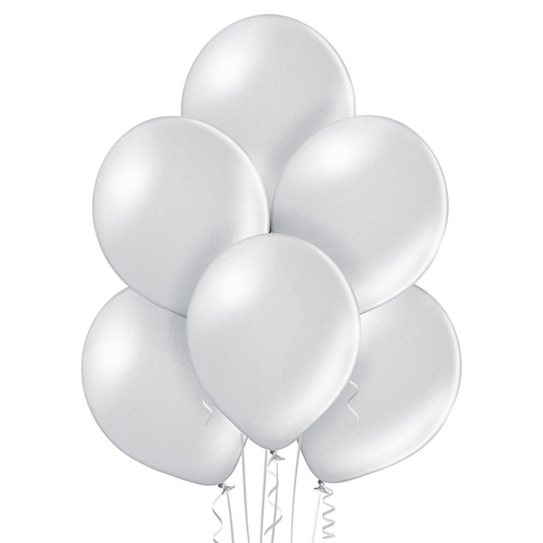 Metallic 061 Silver Balloons 8ct