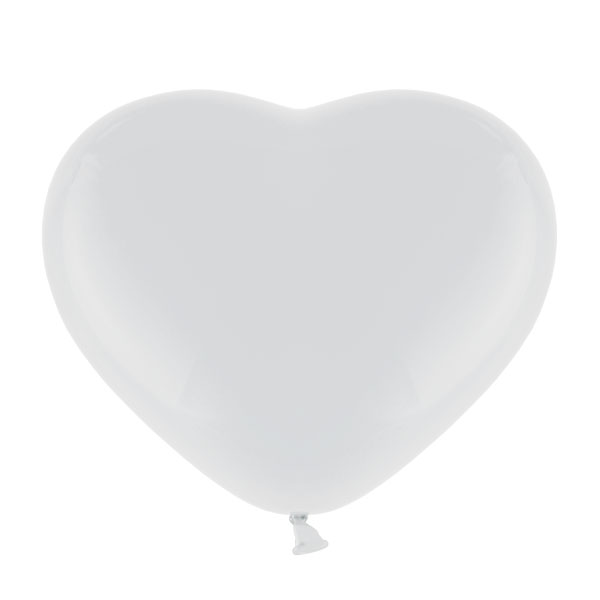 Pastel 11inch White Hearts 25ct