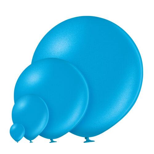 Metallic 085 Cyan Balloons